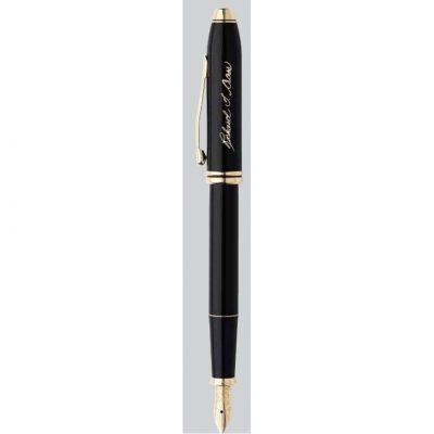 Townsend® Black Lacquer & 23KT Gold Fine Nib Fountain Pen